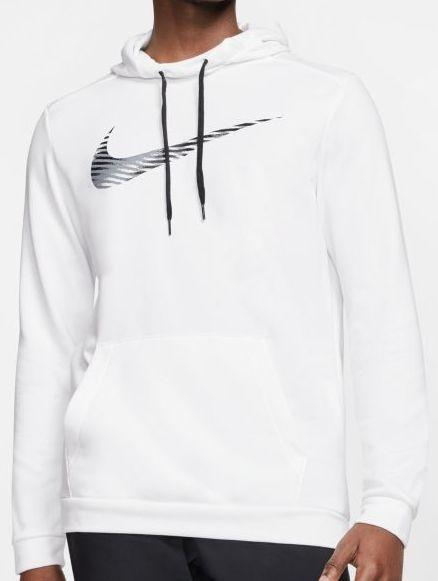 Tenisa džemperis vīriešiem Nike Dry Hoodie Pullover Swoosh - white