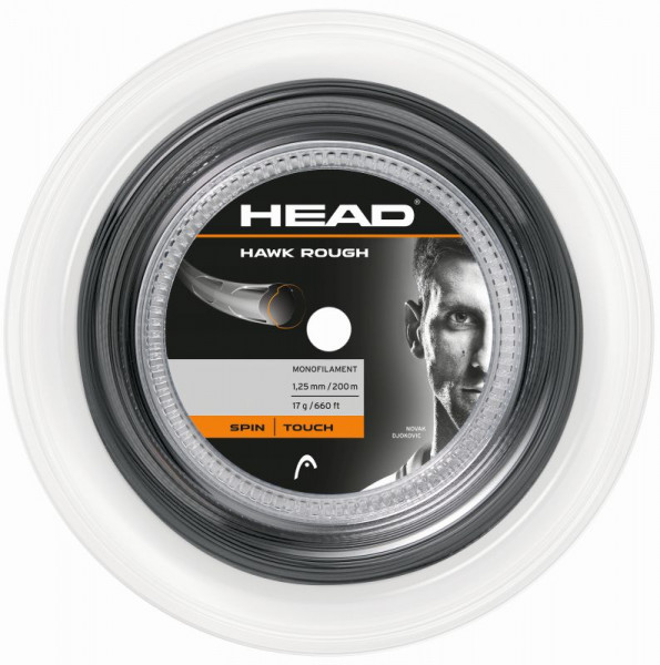 Tennis String Head HAWK Rough (200 m) - antracite