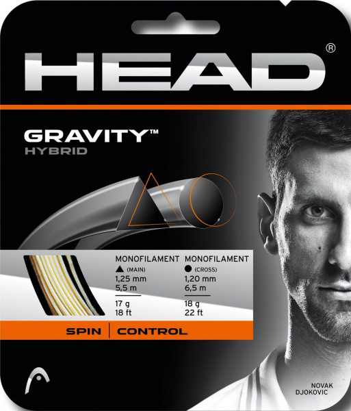 Teniso stygos Head Gravity 1,25/1,20 Grey & White (6,5 m/5,5 m) (Rekomenduojame)