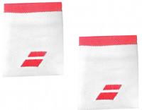 Babolat Logo Jumbo Wristband - white/fluo strike