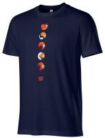 T-krekls vīriešiem Wilson Tokyo Tech Tee M - maritime blue