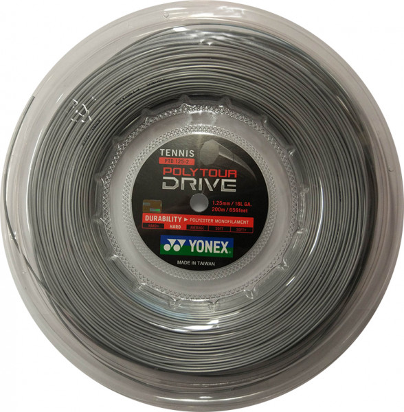 Tenisa stīgas Yonex Poly Tour Drive (200 m) - silver