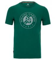Męski T-Shirt Lacoste Roland Garros T-Shirt M - green