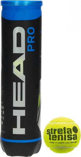 Piłki tenisowe Head Pro (Strefa Tenisa logo) - 4 szt.