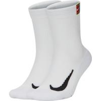 Teniso kojinės Skarpety Tenisowe Nike Multiplier Crew 2PR Cushion - 2 poros/white/white
