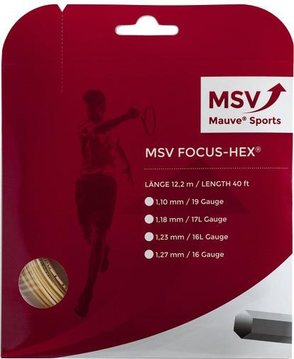 Teniso stygos MSV Focus Hex (12 m) - natural