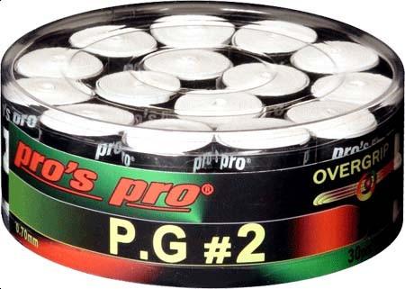 Owijki tenisowe Pro's Pro P.G. 2 30P - white