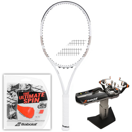 Rakieta tenisowa Babolat Pure Strike Team LTD Wimbledon - white/gold + naciąg + usługa serwisowa
