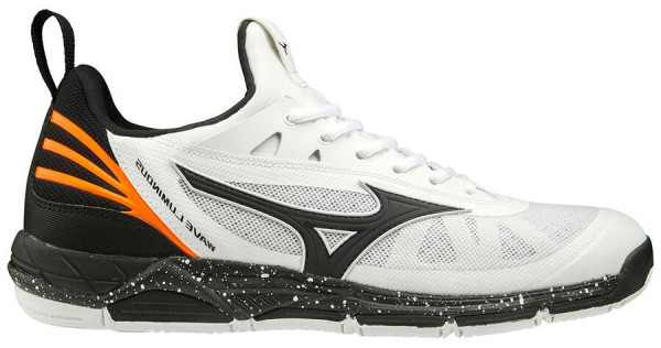 Buty do squasha Mizuno Wave Luminous - white/black/orange