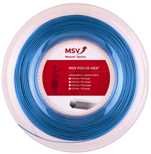 Tennis String MSV Focus Hex (200 m) - sky blue