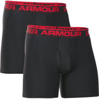 Męskie bokserki sportowe Under Armour Original Series 6 Boxerjock 2-Pack - black