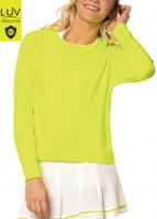 Ženska majica dugih rukava Lucky in Love Luv Hype L/S Women - neon yellow