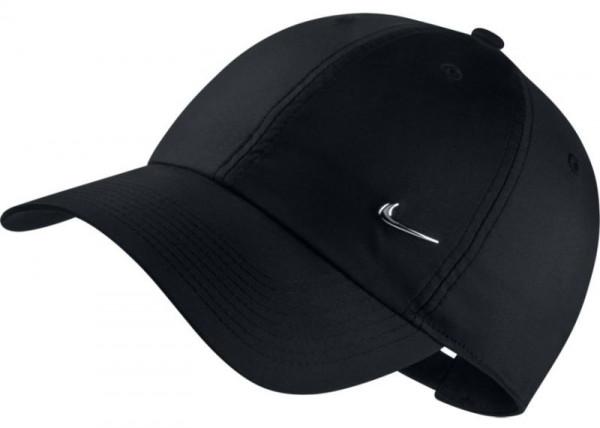 Tenisa cepure Nike H86 Metal Swoosh Cap - black/metallic silver