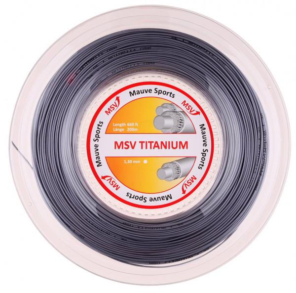 Naciąg tenisowy MSV Titanium (200 m) - silver