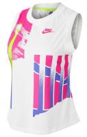 Damski top tenisowy Nike Court Women Slam Tank New York - white/hot lime/sapphire/pink foil