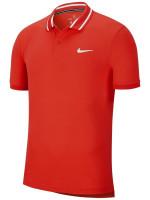 Męskie polo tenisowe Nike Court Dry Polo Pique - habanero red/white
