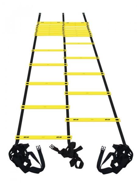Drabinka tenisowa Pro's Pro Agility Ladder Double (9 m) - yellow/black