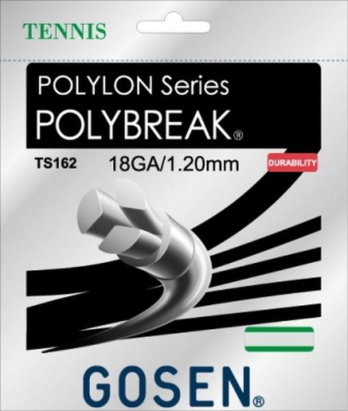 Naciąg tenisowy Gosen Polylon Polybreak (12.2 m) - white