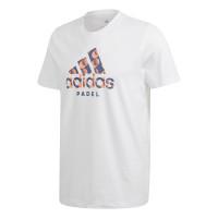 Teniso marškinėliai vyrams Adidas Padel Logo Tee - white