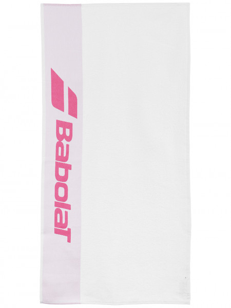Ręcznik tenisowy Babolat Towel - white/pink