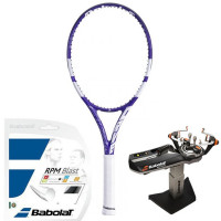 Tenisa rakete Babolat Pure Drive Lite Wimbledon - white/purple + stīgas + stīgošanas pakalpojums