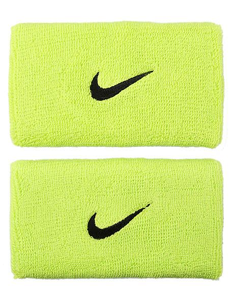 Znojnik za ruku Nike Swoosh Double-Wide Wristbands - atomic green/black