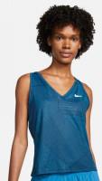 Ženska majica bez rukava Nike Court Victory Printed Tennis Tank W - obsidian/white
