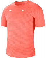 Męski T-Shirt Nike Court Rafa Aeroreact Top SS Slam - bright mango/barely green