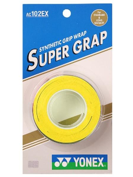 Tenisa overgripu Yonex Super Grap 3P - yellow