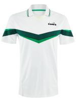 Diadora Polo SS - holly green/white/bistro green