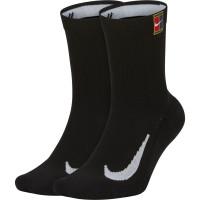 Teniso kojinės Nike Multiplier Crew 2PR Cushion - 2 poros/black/black