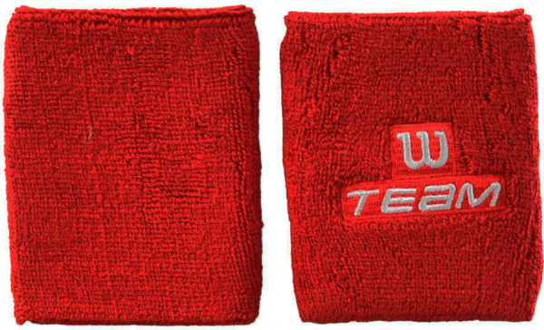Wilson Double Wristband Team W - red