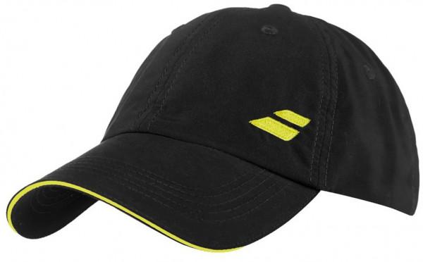 Babolat Basic Logo Cap - black/blazing yellow