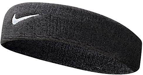 Frotka Tenisowa na głowę Nike Swoosh Headband - black/white