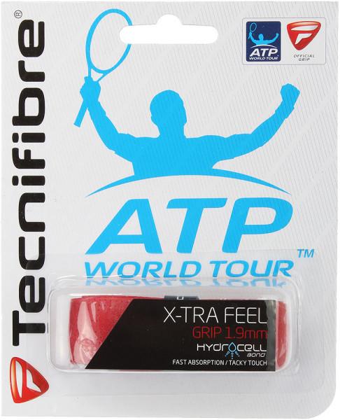 Owijki tenisowe bazowe Tecnifibre X-Tra Feel (1 szt.) - red