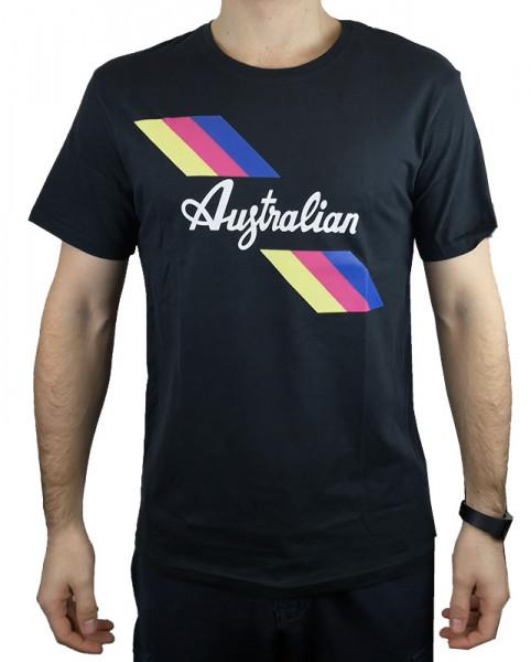 Teniso marškinėliai vyrams Australian Jersey T-Shirt with Print - nero