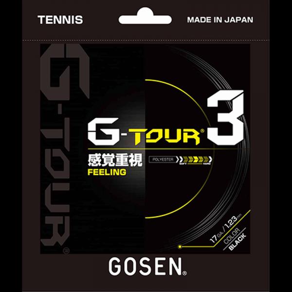 Tenisa stīgas Gosen G-Tour 3 (12.2 m) - black
