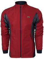 Męska bluza tenisowa Lacoste Men's SPORT Novak Djokovic Full-Zip Jacket - red/navy blue