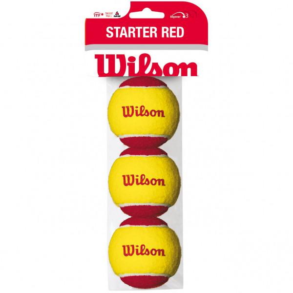 Teniso kamuoliukai pradedantiesiems Wilson Starter Red - 3 vnt.