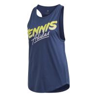 Marškinėliai moterims Adidas W Tennis Script Tank Top - tech indigo