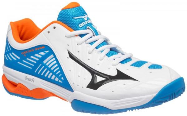 Vīriešiem tenisa apavi Mizuno Wave Exceed 2 CC - white/black/diva blue