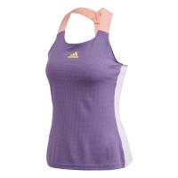 Marškinėliai moterims Adidas Women Y-Tank Heat Ready - tech purple/shock yellow