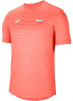 Męski T-Shirt Nike Court M Rafa Challenger Top SS - bright mango/barely green