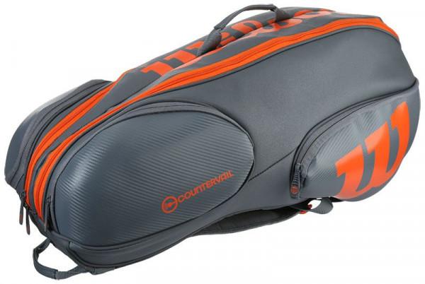 Wilson Vancouver Burn Reverse 9 Pk Bag - grey/orange