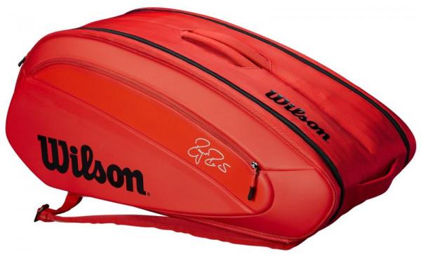 Tennisekott Wilson Federer DNA 12 Pk Bag - infrared