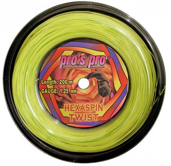 Tennisekeeled Pro's Pro Hexaspin Twist (200 m) - lime