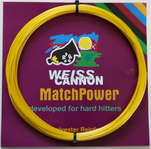 Tennisekeeled Weiss Cannon MatchPower (12 m) - yellow