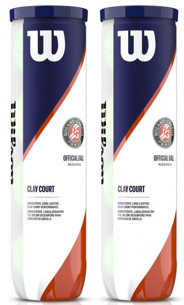 Tenisa bumbiņas Wilson Roland Garros Clay 2 x 4B