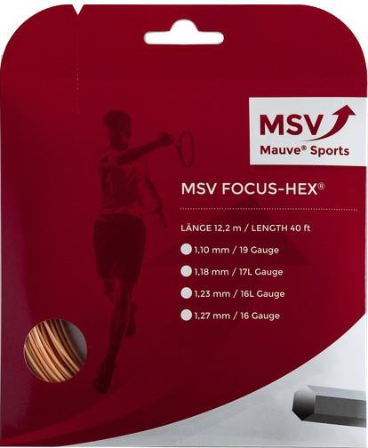 Tenisa stīgas MSV Focus Hex (12 m) - gold