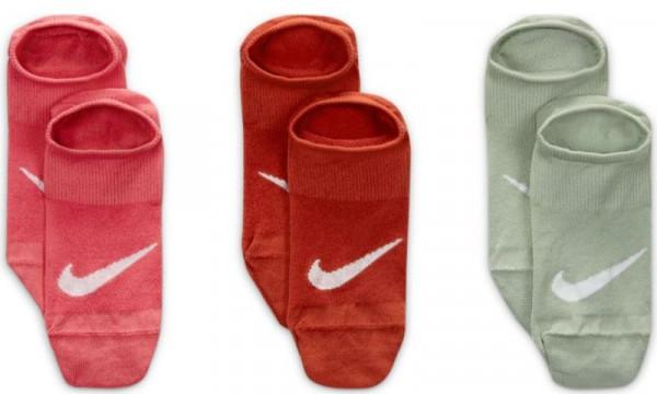 Tennisesokid  Nike Everyday Plus Lightweight Women's Training Footie Socks 3P - multicolor